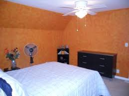 Painted Walls Sponge Painted Bedroom Walls With Orange Accents