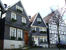these are two types of classic german houses two are covered with