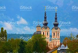 church steeples church steeples villach austria stock photo more pictures of