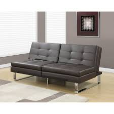 Click Clack Couch Monarch Futon Split Back Click Clack Ivory Leatherlook Walmart Com