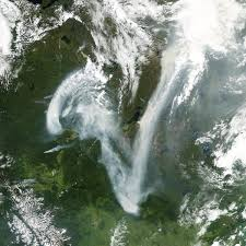 Canada Wildfire Satellite by Reading The Abcs From Space Feature Articles