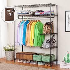 amazon com songmics shelving garment rack heavy duty clothes