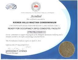Authorization Letter Use Condo Unit lancaster cebu resort residences condo hotel suites at kiener