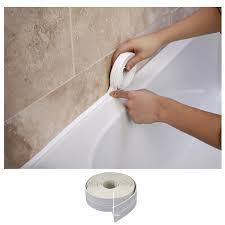 best caulk for bathroom shower winrembrandt bath u0026 wall sealing strip 38mm x 3 35m amazon co uk