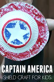 toddler approved easy captain america shield craft for kids