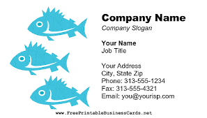 Marine Business Cards Fish Business Card