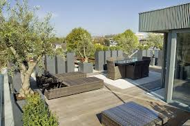 Rooftop Patio Design Exterior Pleasant Roofto Terrace Design With Grey Wicker Outdoor