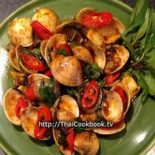 chili cuisine authentic recipe for clams in roasted chili sauce หอยลายผ ด
