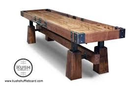 rustic shuffleboard table the industrial farmhouse