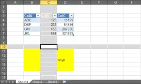 vba easy navigation in excel within the same row with the aid of
