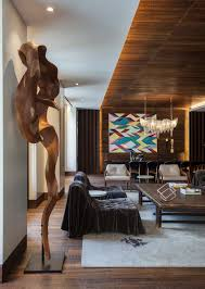 Wooden Interior Wood In Interior Design Afro Contemporary Apartment By Arrcc