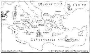 odyssey map mythology and the odyssey munson