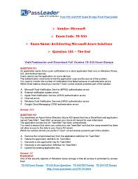 2016 new 70 534 exam dumps for free vce and pdf 101 end by