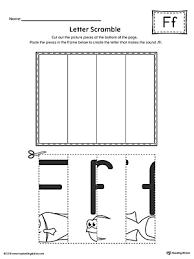letter f scramble worksheet letter f printable worksheets and