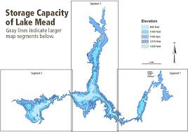lake mead map storage capacity of lake mead lake mead national recreation area