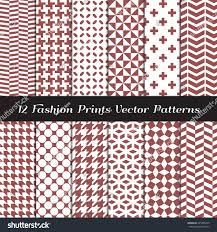 marsala color fashion prints patterns houndstooth stock vector