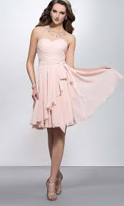 light pink sweetheart ruffled short bridesmaid dresses ksp390