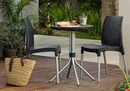 Resin Bistro Chairs Keter Chelsea 3 Resin Outdoor Patio Furniture