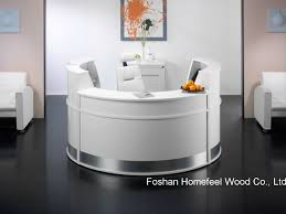 White Gloss Reception Desk China White High Gloss Elegant Salon Reception Desk Counter Hf