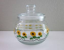sunflower canisters for kitchen sunflower kitchen etsy