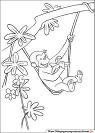 free printable curious george coloring color pages