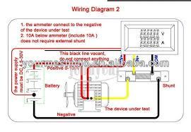 digital led car red voltmeter blue ammeter amp volt panel meter