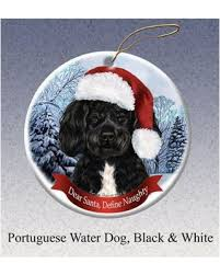 sweet deal on portuguese water howliday ornament