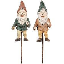 1stdibs cast iron gnomes landscape and exterior