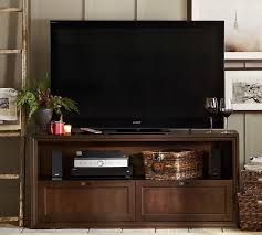 Small Media Cabinet Furniture Winslow Wood Drawer Media Stand Pottery Barn