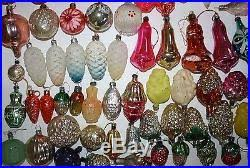 vintage blown glass set of 121 ornaments ussr soviet
