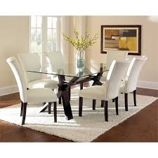 dining table cheap price steve silver berkley glass top dining table in espresso cherry
