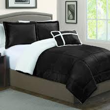 Black Down Alternative Comforter U0026 Sherpa Down Alternative Reversible Comforter Set