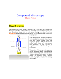 compound microscope project