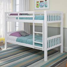 Dimensions Of Bunk Beds by Walker Edison Furniture Company Carolina Twin Over Twin Wood Bunk