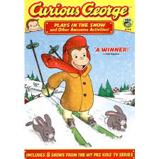 curious george plays snow awesome activities