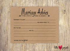 marriage advice cards for wedding marriage bridal advice wish cards groom wedding advice