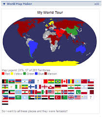 countries visited map map maker create visited country maps
