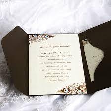 Wedding Invitations With Pictures Invitation Wedding Cards Rectangle Gold Grey Floral Pattern With
