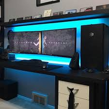 Gaming Desk Stunning Gaming Computer Desk Setup Best Ideas About Gaming Desk