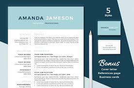 Modern Resume Template Resume Cv Template Resume Template 3 Page Cv Template Cover