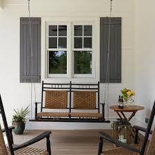 beach home porch with swing sofa cottage porch