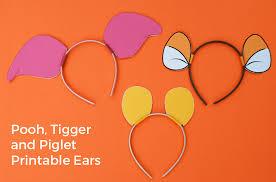 diy winnie the pooh ears piglet ears tigger ears merriment design