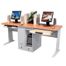 Locking Computer Desk Children S Computer Desk For Two With Locking Cpu Shelves And