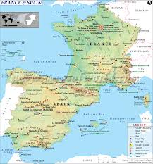 Michelin Maps France by Map Of France And Spain Together Travel