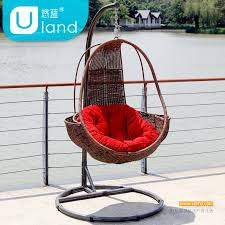 rattan hanging chair egg shaped living room bedroom inside and