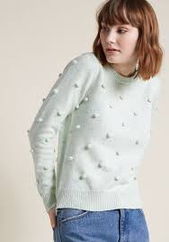 sweater in pom pom knit sweater in confetti modcloth
