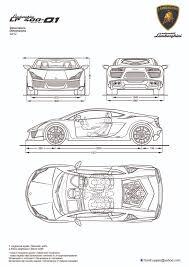 lamborghini gallardo blueprint lamborghini lp 400 1 prototype design blueprints by hanif yayan on