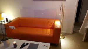 ikea klippan sofa orange ikea klippan leather sofa with white cover in hove