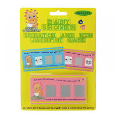 baby shower scratch and win jackpot game baby shower games