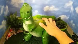 toy story talking rex deluxe figure disney store demonstration